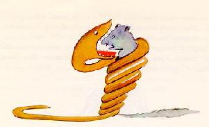 小王子 小王子在线阅读 一条蟒蛇正在吞吃一只猛兽
