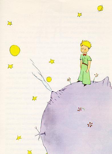 小王子 小王子图片 小王子在B612星球上