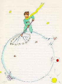小王子 小王子图片 小王子整理他的小行星