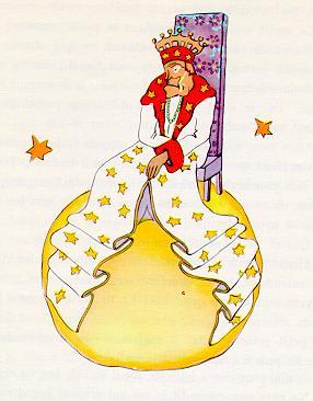 小王子 小王子图片 小王子拜访国王