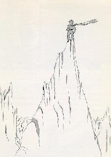 小王子 小王子图片 小王子登上一座高山
