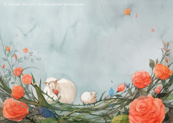 小王子 小王子图片 小绵羊会吃掉玫瑰花吗