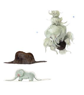 小王子 小王子图片 闭合和敞开的蟒蛇 摞起来的大象