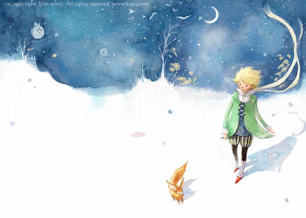 小王子 小王子图片 小王子和狐狸