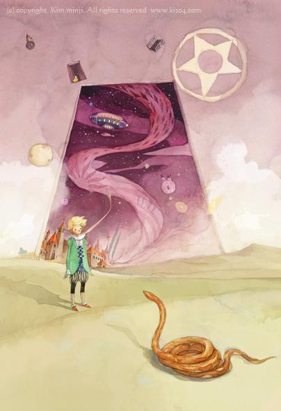 小王子 小王子图片 小王子和毒蛇