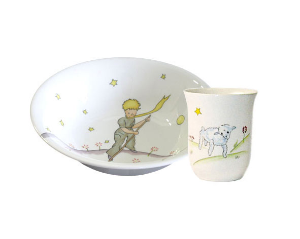 小王子 小王子图片 小王子餐具:礼品套装,无柄大口和燕麦碗