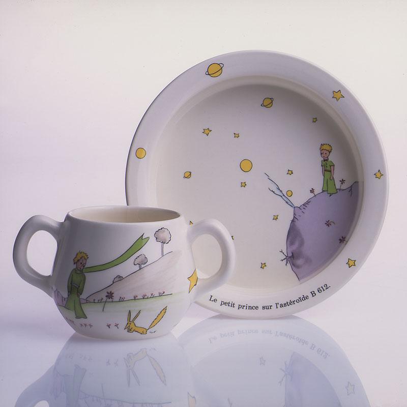 小王子 小王子图片 小王子餐具:儿童餐盘和双柄杯