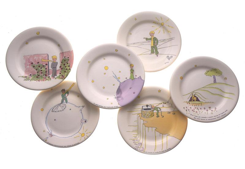 小王子 小王子图片 小王子餐具:甜点盘
