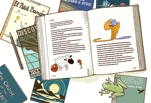 小王子 小王子图片 我六岁的那年在一本书上看到一幅扣人心弦的图画。